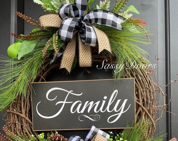 Winter Wreath, Winter Grapevine Wreath, Pine Wreath, Wreath for front door, Sassy Doors Wreath, Peace On Earth Wreath,