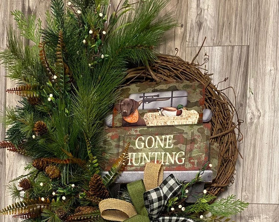 Woodlands Wreath, Hunting Wreath, Sports Wreath, Dog Wreaths, Wreath For Front Door,