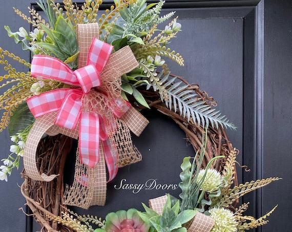 Beach Wreath, Nautical Wreath, Everyday  Coastal Wreath, Anchor Wreath, Beach Wreath For Front Door, Sassy Doors Wreath, Coastal Wreath