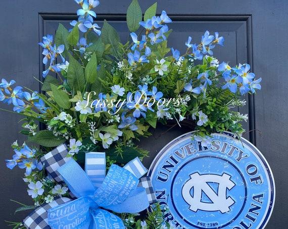 UNC Tarheels- Sports Wreath- College Wreath- Carolina Tarheels-UNC Chapel Hill- Front Door Wreath