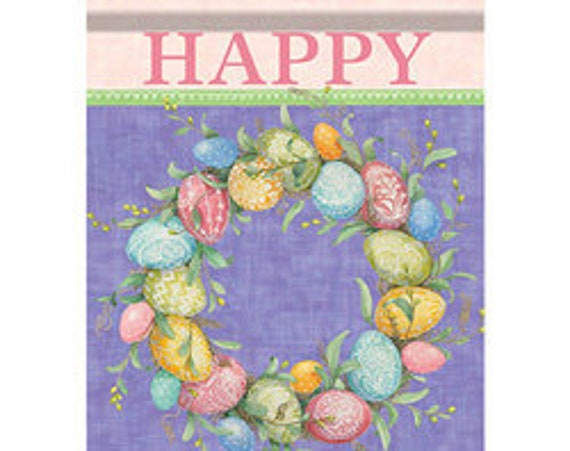 Easter wreath House  Flag, Easter Flag, Easter Egg Flag
