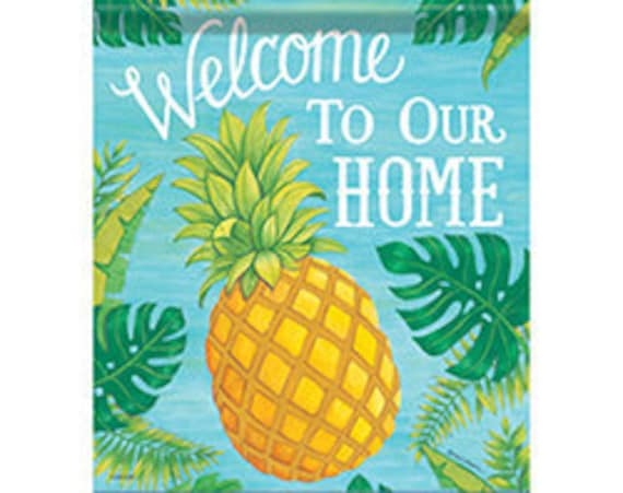Address Flag, Pineapple Flag, Spring And Summer Flag, Garden Flag, Customizable Flag, Address Garden Flag