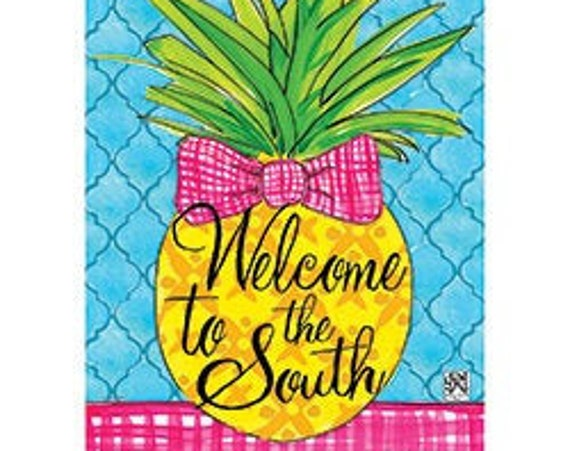 Welcome To The South Flag, Welcome Flag, Garden Flag,  Carson Flag, Garden Flag