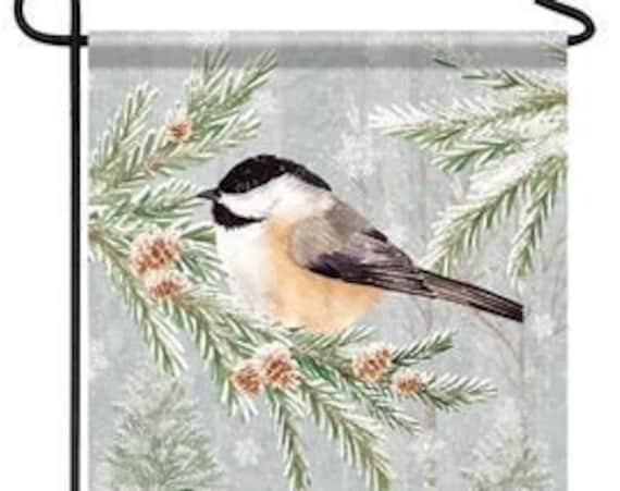 Winter Flag, Winter Bird Flag, Snow Flag