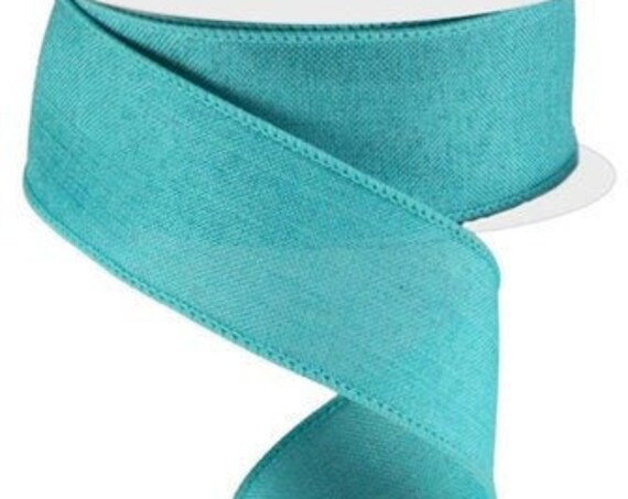 Light Teal Wired Ribbon, 1 1/2 Inch Ribbon