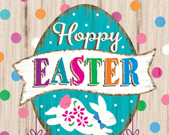 Happy Easter Garden Flag, Easter Flag, Easter Egg Flag
