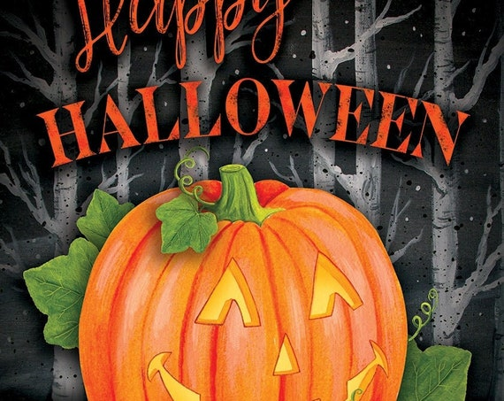 Halloween House Flag- Happy Halloween Flag-  Pumpkin Flag, House Accent, Fall Flag,