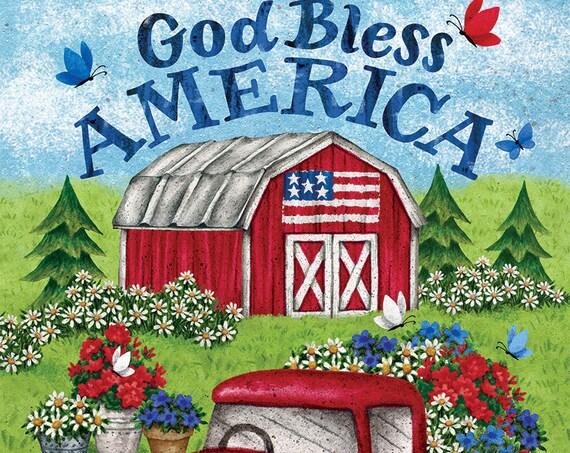 Red Truck Garden Flag-Patriotic  Flag-Truck Garden Flag- Truck  Garden Flag-