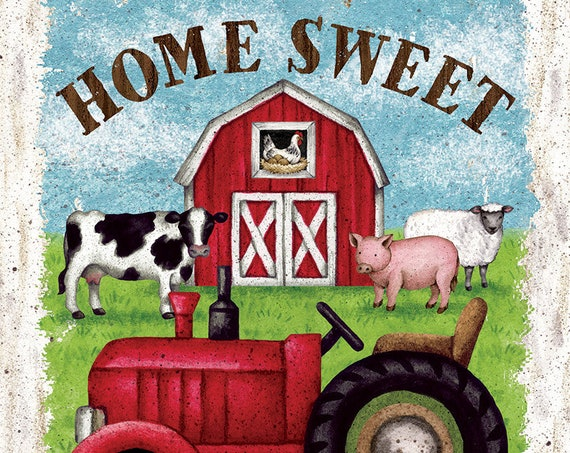 Farmhouse  Flag,  Farm Animal Flag, Home Sweet Home Flag, Garden Flag,