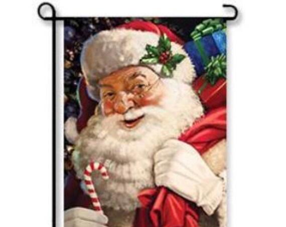 Santa Clause Garden Flag- Christmas Flag- Santa Flag- Santa Clause Garden Flag- Christmas