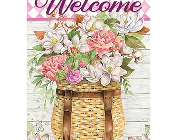 Summer Flag, Flag, Garden Flag, Flower Basket Flag, Carson Flag, Welcome  Flag, Garden Flag-