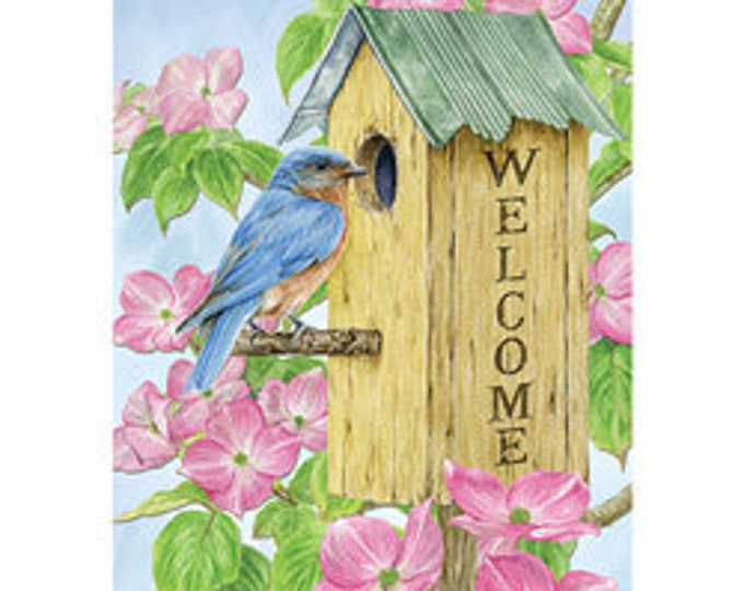 Birdhouse House Flag, Flag With Bird, Welcome Flag, House Flag, Carson Flag,