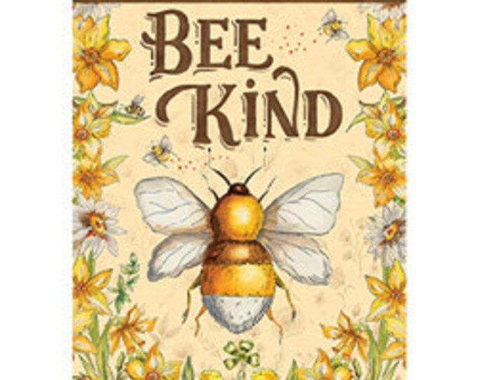 Bee Kind Bumble Bee Garden Flag-, Summer Bee Flag, Summer Garden Flag