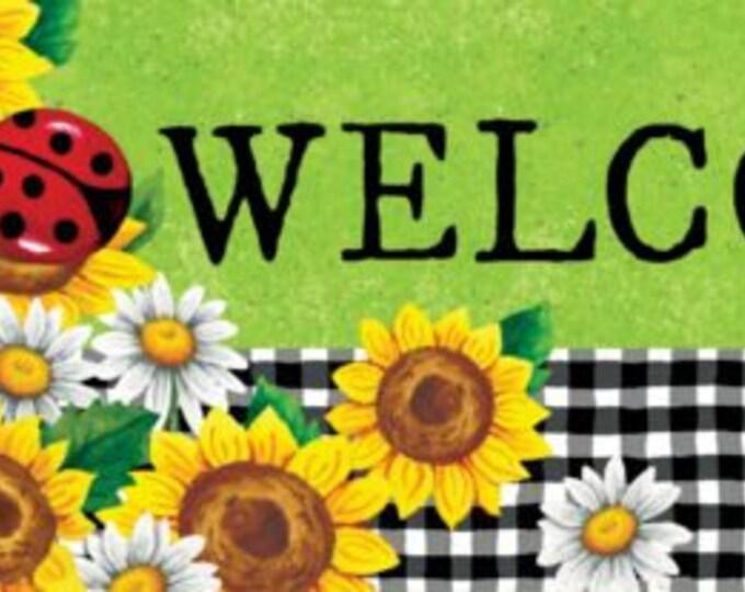 Lady Bug Sign, Garden Ladybug sign, Wreath Sign,