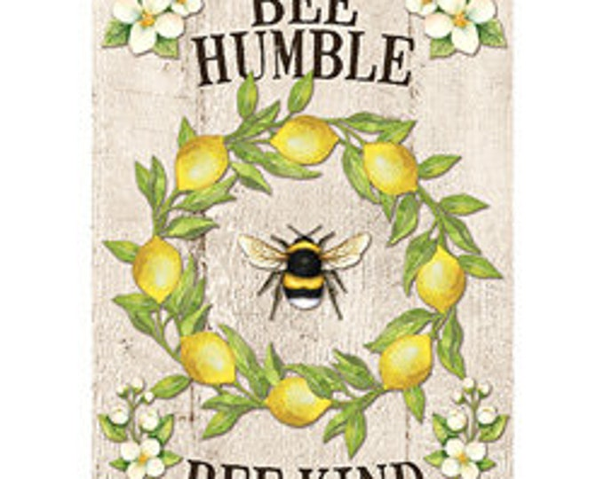 Bee Humble Flag, Bumble Bee Garden Flag, Small Garden Flag