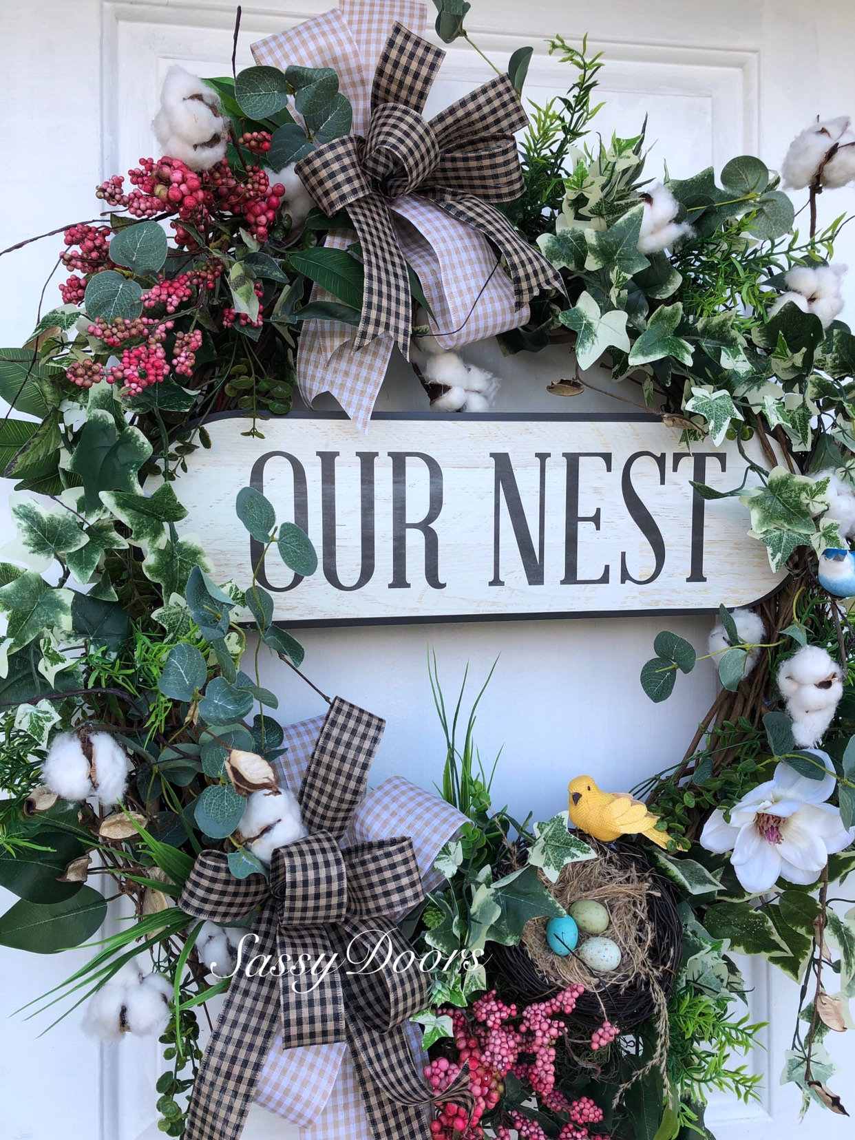 Everyday Wreath Grapevine Wreath Front Door Wreath Magnolia