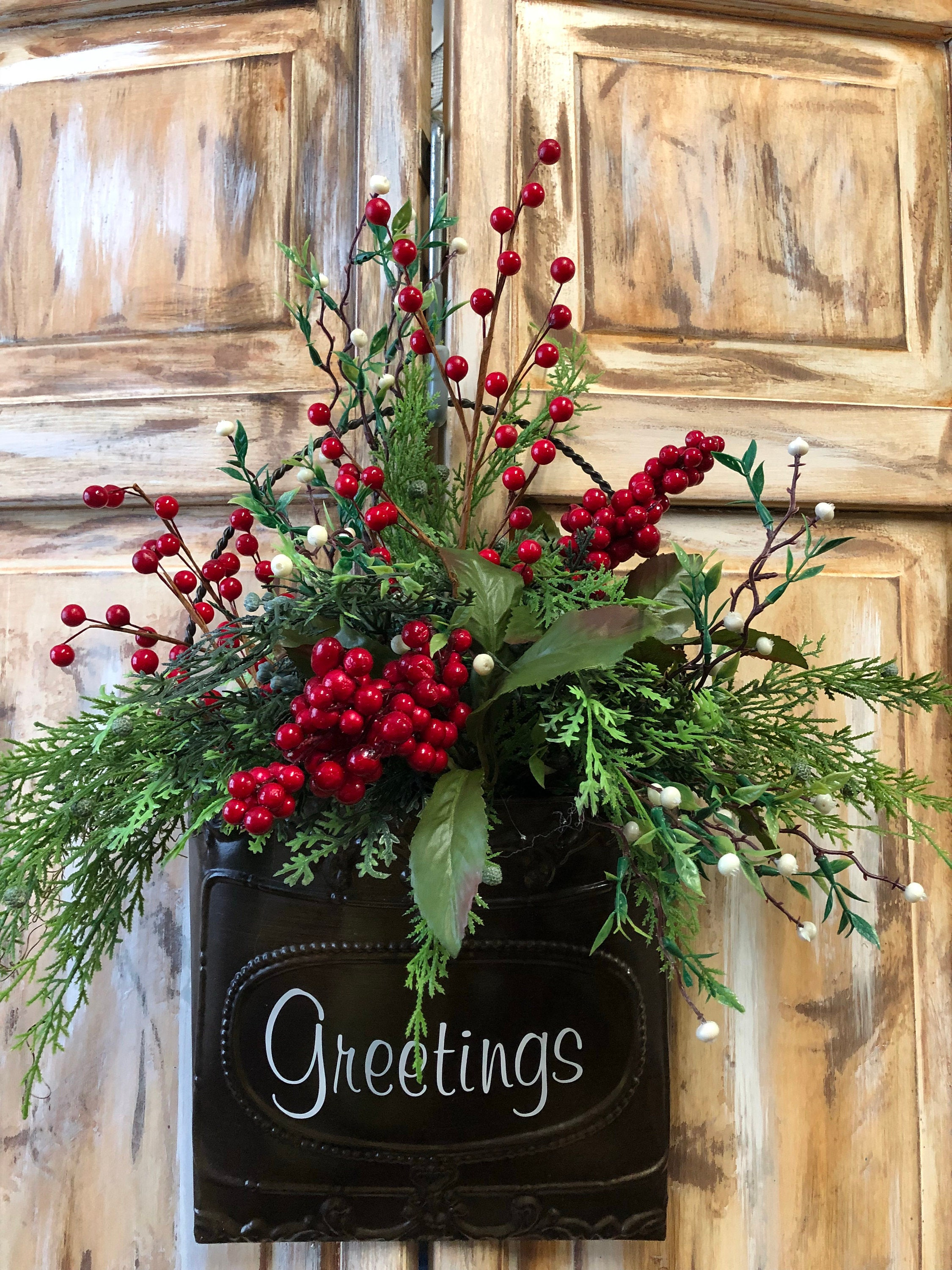 Christmas Wall Basket Christmas Door Basket Door Pocket
