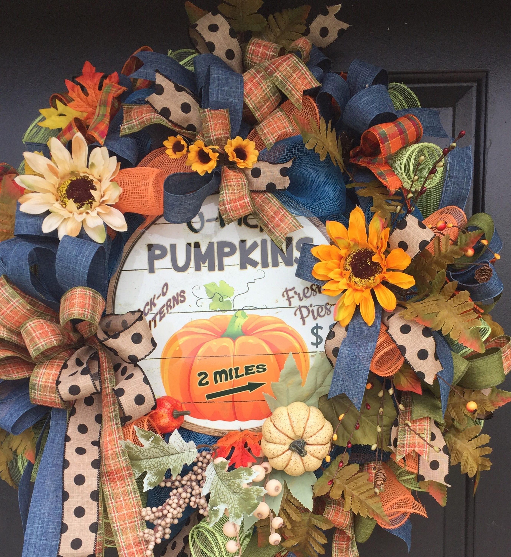 Fall Doorways: Fall Wreath Sunflower Wreath Fall Front Door Wreath Fall
