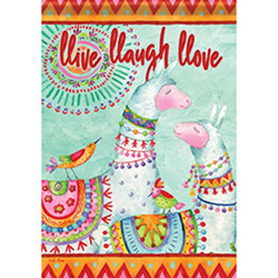 Llama Flag, Whimsical Flag, Love Flag, Garden Flag