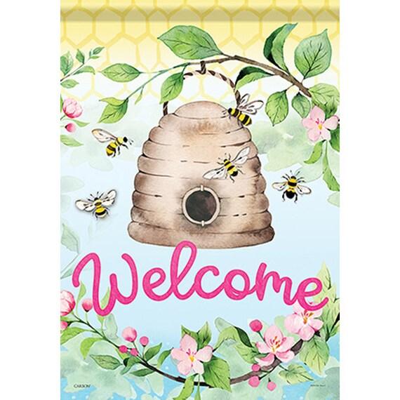 Bumble Bee  Garden Flag-