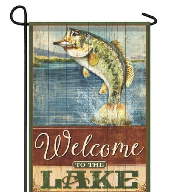 Lake Garden Flag- River  Flag, Lake House Flag, Sassy Doors, Garden Flag , Accent Garden Decor, Custom Decor Flag