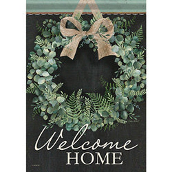 Welcome  Home House Flag , Welcome Flag, Everyday Flag, Coastal Flag