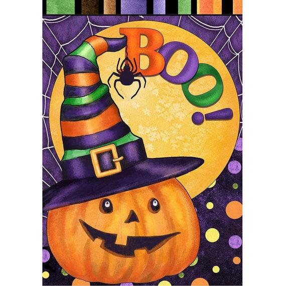 Halloween Garden Flag- Boo Flag- Garden Accent-Free Shipping