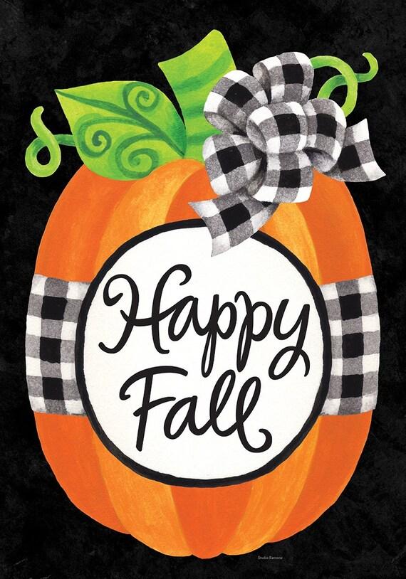 Fall House Flag, Fall Pumpkin Flag, Fall Flag, Autumn Flag, Pumpkin Garden Flag,  Sassy Doors