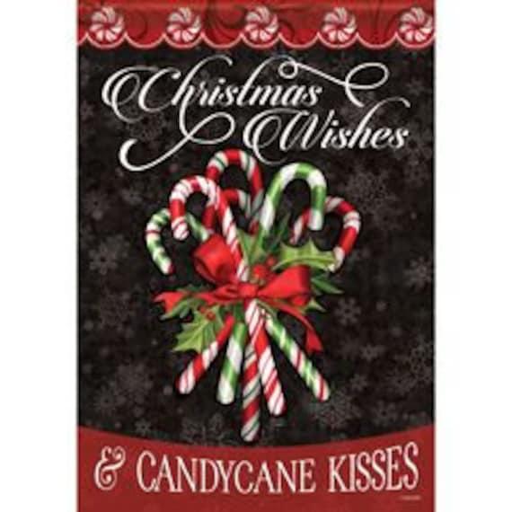 Candy Cane House Flag Christmas House Flag- Christmas Candy Cane House Flag-