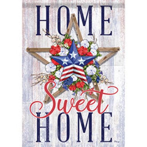 Patriotic House Flag, Home Sweet Home Patriotic Flag, Summer Flag, House Flag, July 4th Flag,