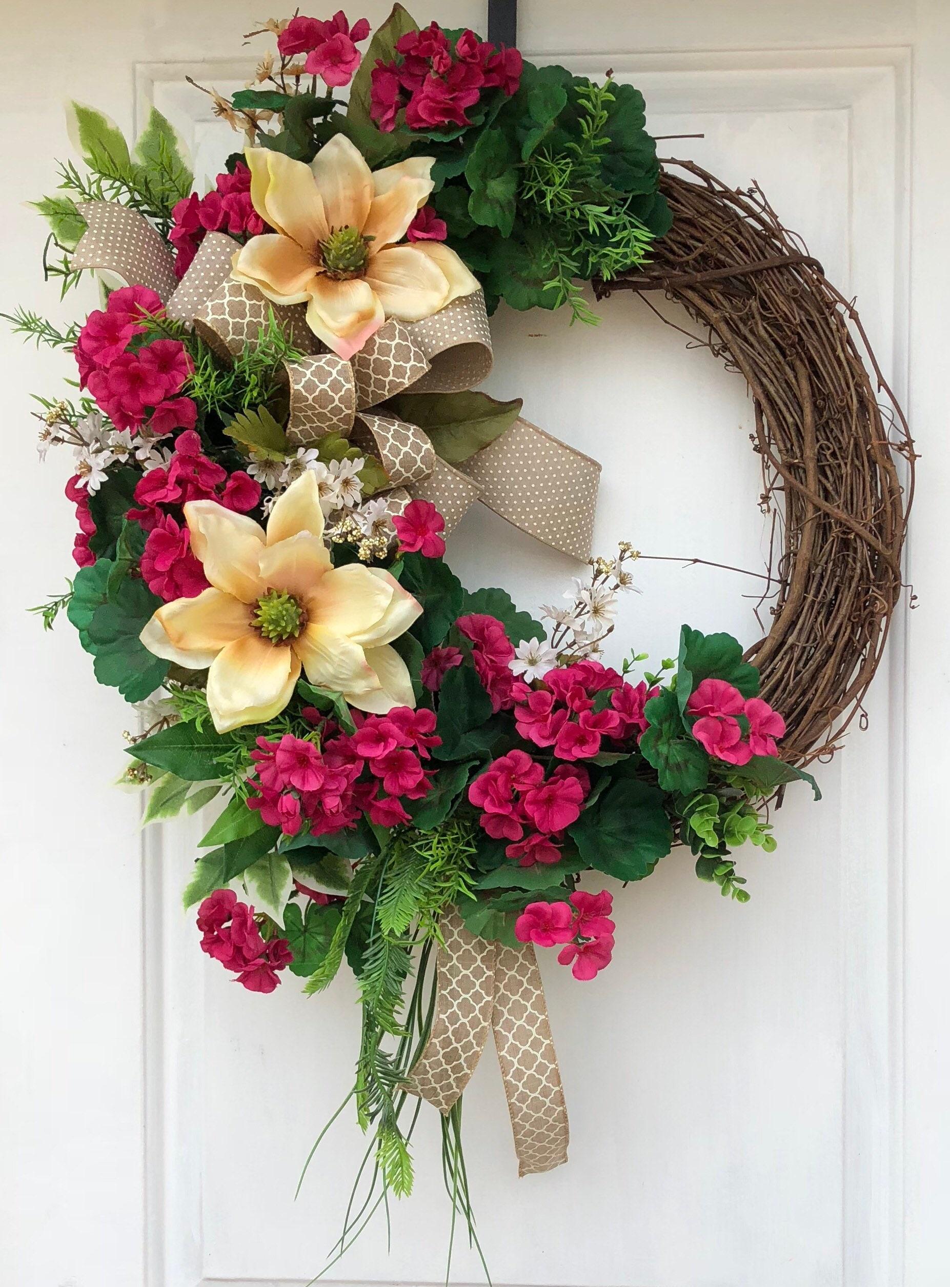Monogram Wreath Everyday Wreath Grapevine Wreath Wreath For Front Door Bridal Gift Wreath