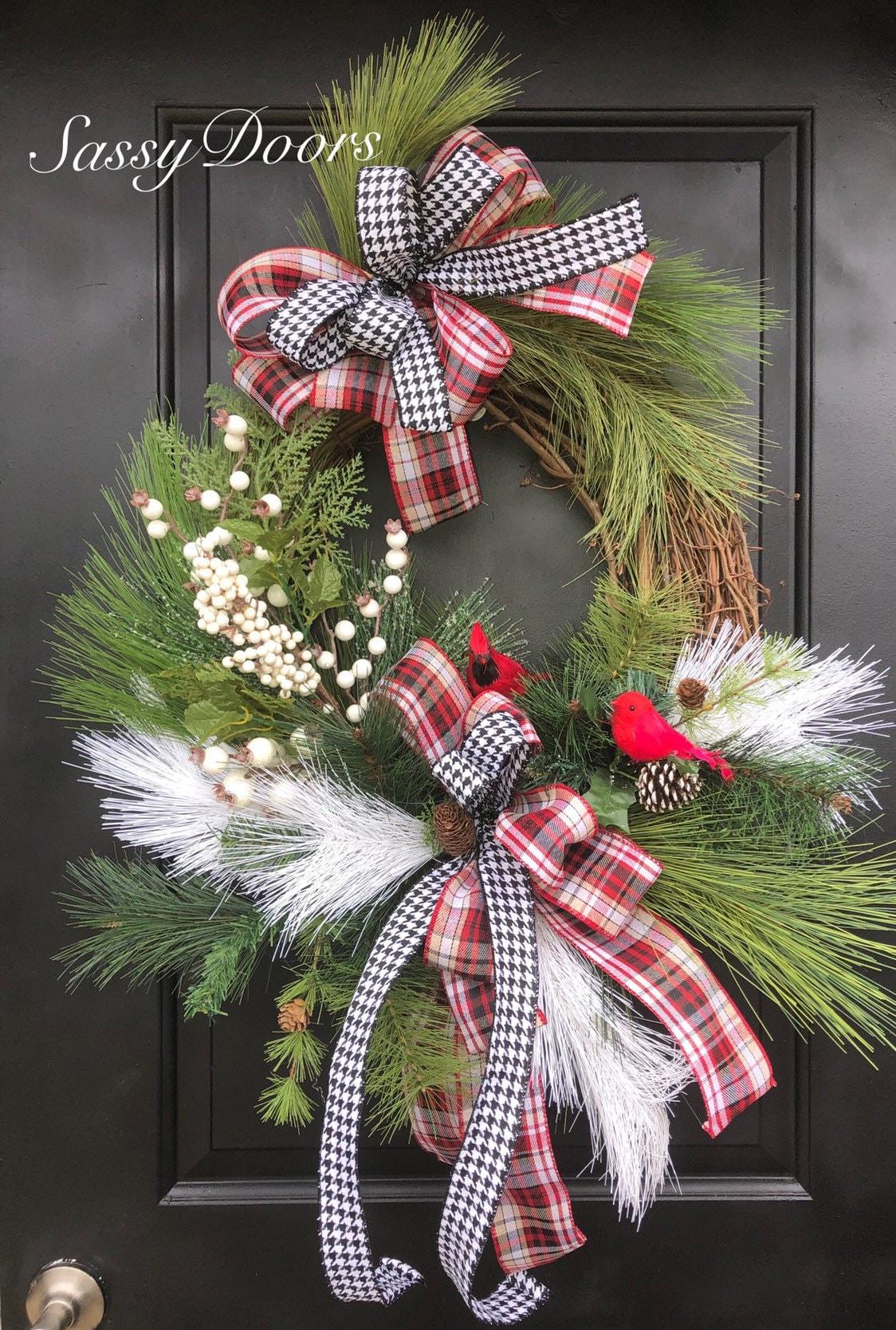 Red Cardinal Wreath Woodland Wreath Country Wreath