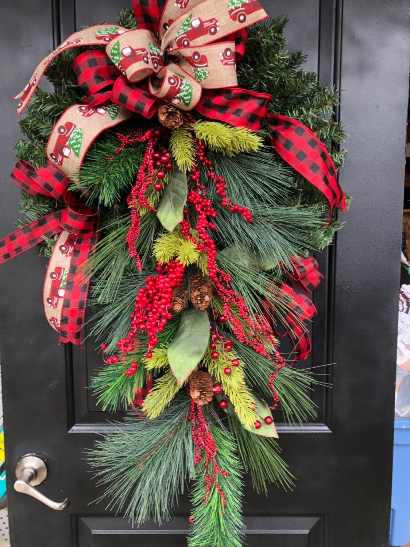 Christmas Wreath Christmas Buffalo Plaid Wreath