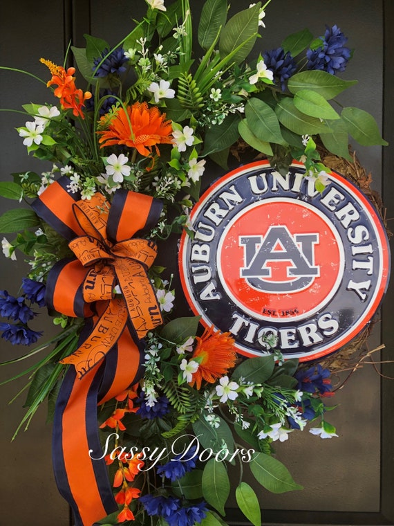 Auburn University, Auburn Tigers, UA Wreath, College Wreath, Auburn University,Collegiate Wreath, SassyDoors Wreath