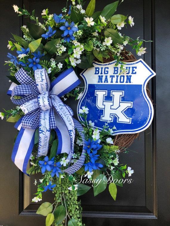 Kentucky Wildcats, Kentucky Wreath, Sports Fan Wreath, College Sports