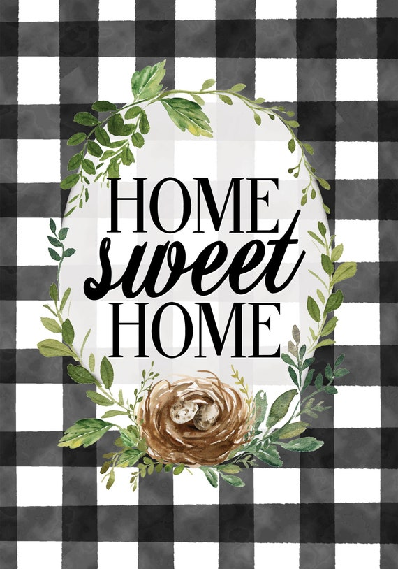 Home Sweet Home Garden Flag, Flag With Bird Nest  Custom Decor Garden Flag, Welcome Flag