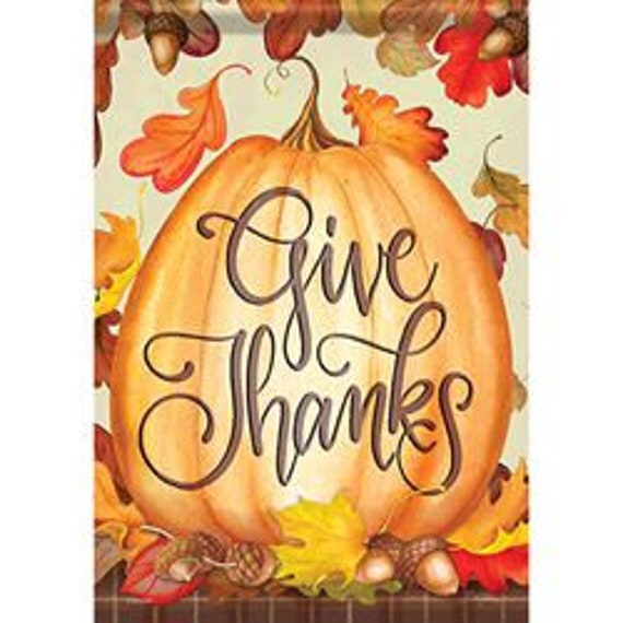 Thankful Pumpkin Fall Flag, Autumn Flag, Pumpkin Garden Flag,