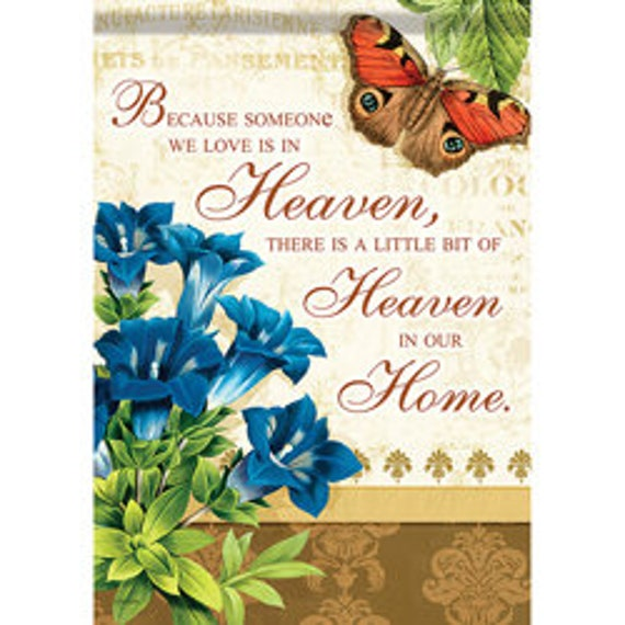 Memory Garden Flag- Remembrance Flag, Inspirational  Flag, Sassy Doors, Carson Garden Flag , Accent Garden Decor,