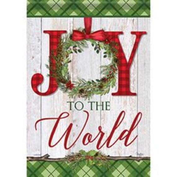 Joy To The World Flag, Winter  Flag,  Christmas Flag, Garden Flag, Double Sided Flag