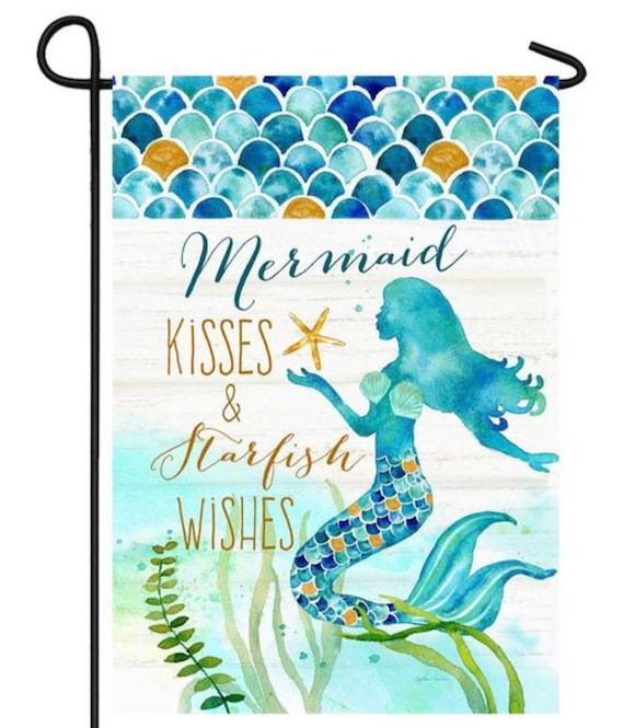Summer Flag, Beach Flag, Summer Garden Flag, Flag With Mermaid, Coastal Flag, Garden Flag.