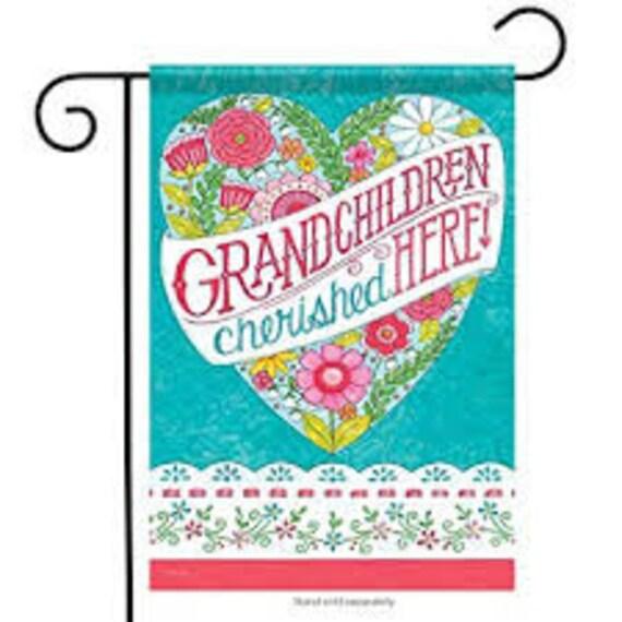 Grandchildren Flag- Summer Flag- Everyday Flag, Garden Flag,