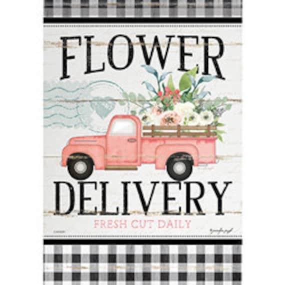 Vintage Truck Garden Flag, Special Delivery Garden Flag, Farmhouse truck Garden Flag