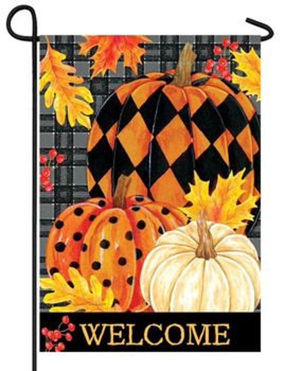 Fall  Garden Flag- Fall Flag-Pumpkin Garden Flag- Welcome Fall  Garden Flag-  Custom Decor Flag, Free Shipping