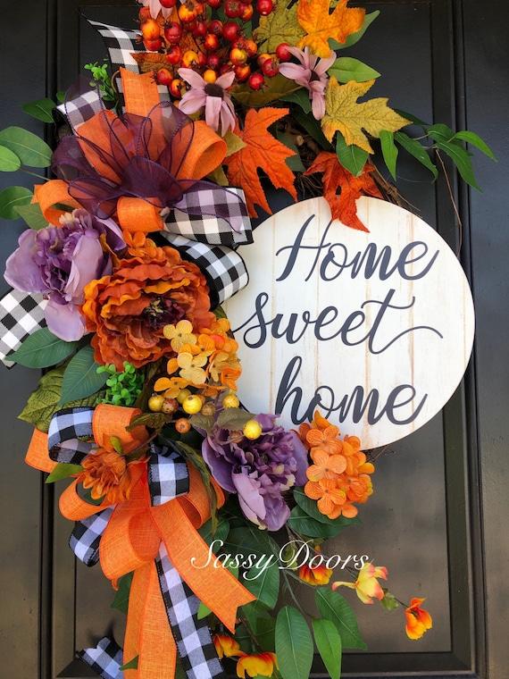 Fall Wreath- Autumn Wreath, Hydrangea Wreath, Front Door Wreath, Fall Pumpkin Wreath, SassyDoors Wreath, Sunflower Wreath