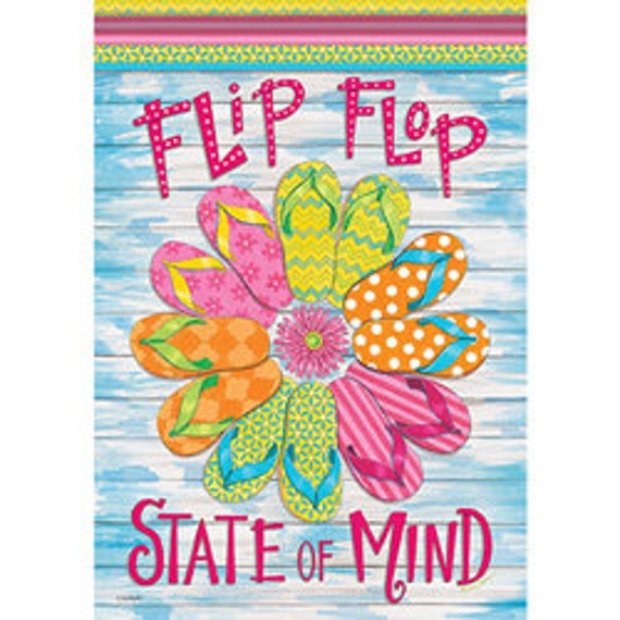 Summer Flip Flop House Flag, Summer Flag With Flip Flops, Pool House Flag- Beach Flag With Flip Flops,