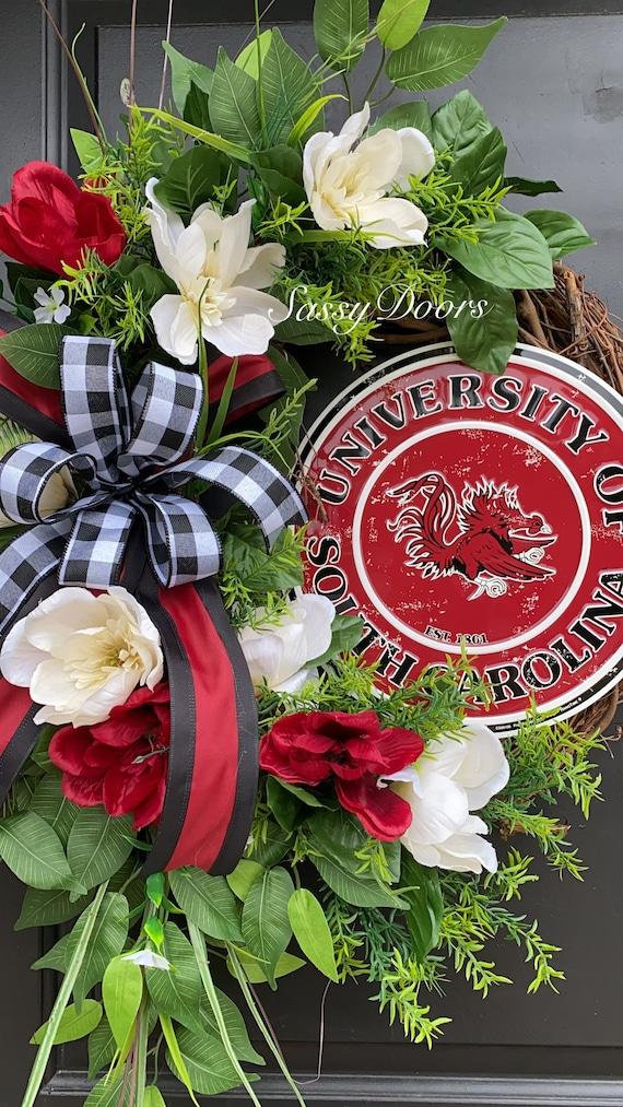 South Carolina Wreath- South Carolina College Wreath- Sports Wreath- University Wreath-SassyDoors Wreath, Gamecocks Wreath