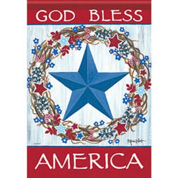 God Bless America Flag, Patriotic Garden Flag-  Patriotic Flag-