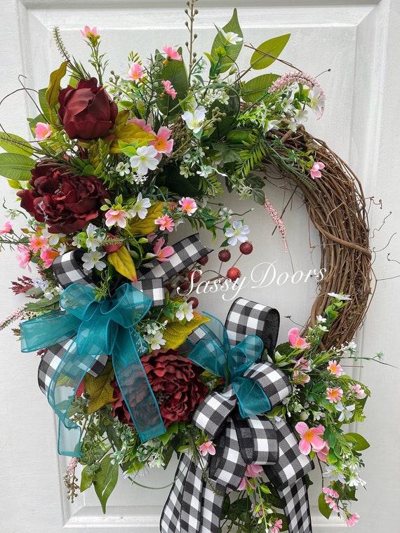 Everyday Wreath,  Grapevine Wreath, Front Door Wreath, Sassy Doors Wreath