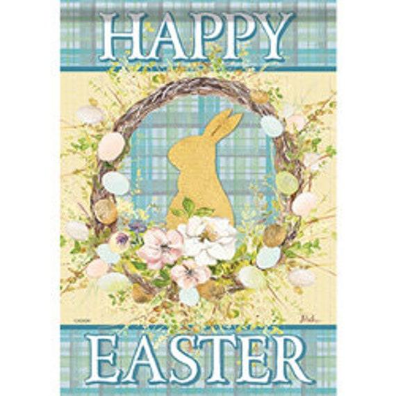 Easter Bunny Glitter Garden Flag, Easter Flag, Easter Glitter Flag, Easter Basket Flag