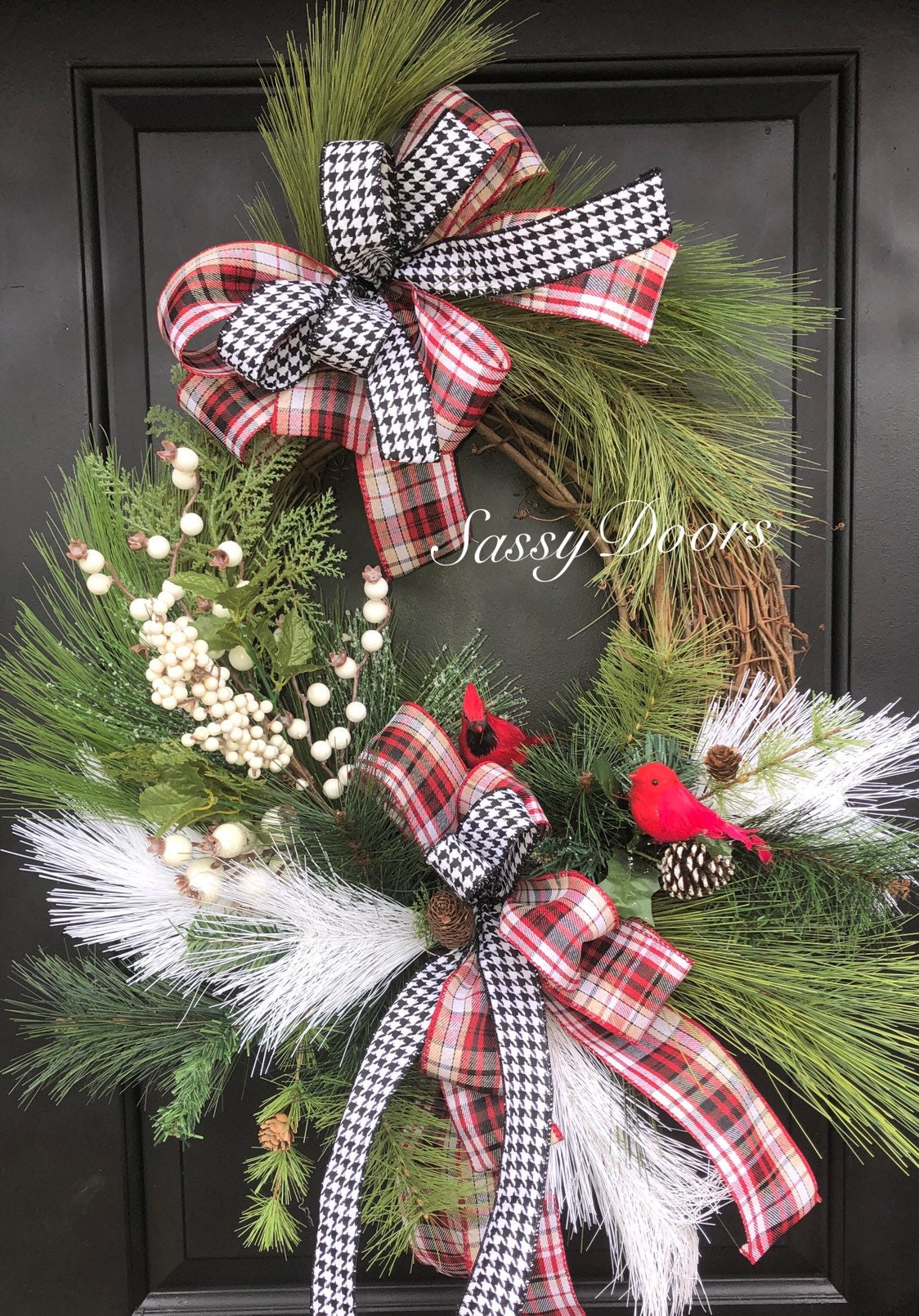 Red Cardinal Wreath Woodland Wreath Country Wreath